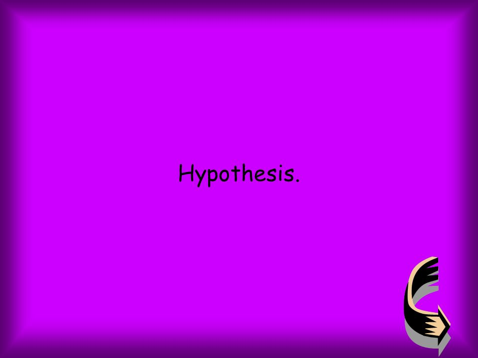 Hypothesis.