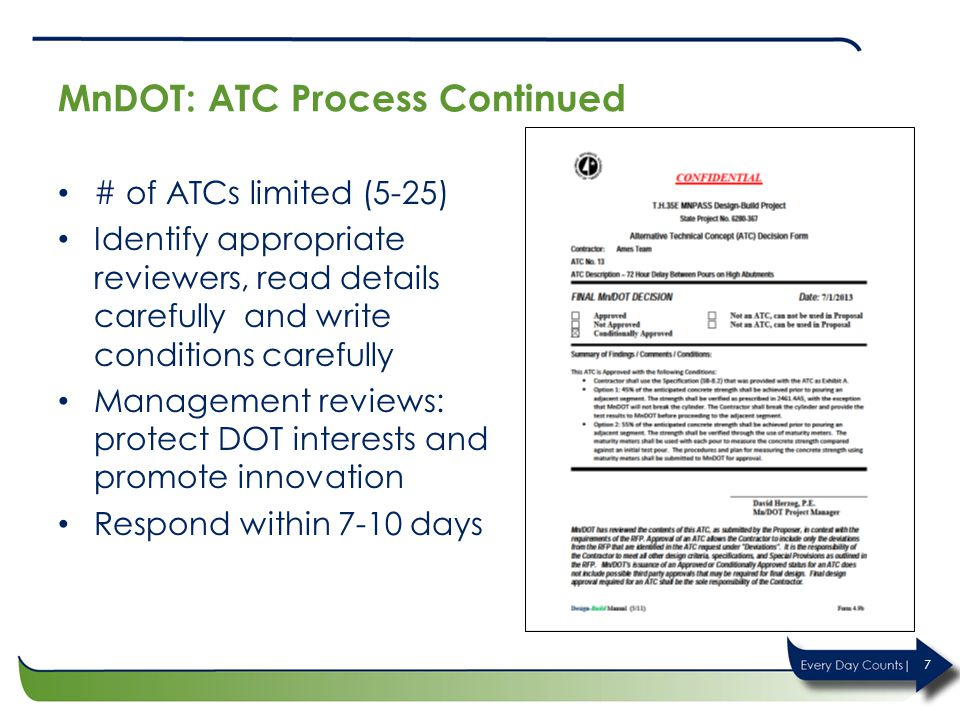 MnDOT: ATC Process Continued
