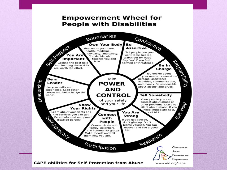 Empowerment Wheel, cont.