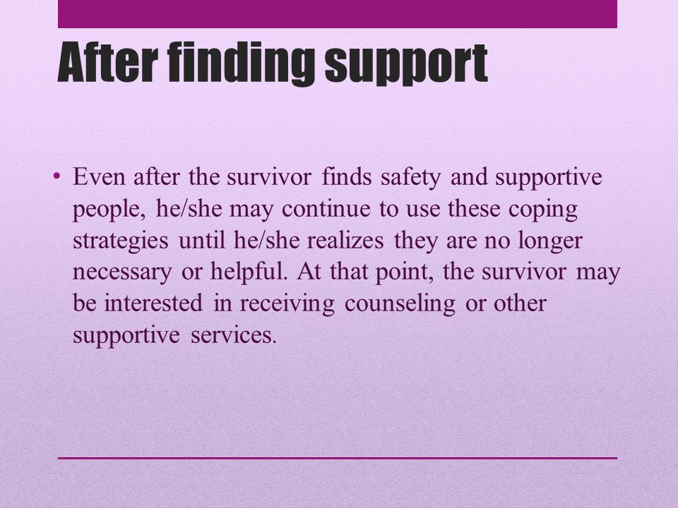 After finding support