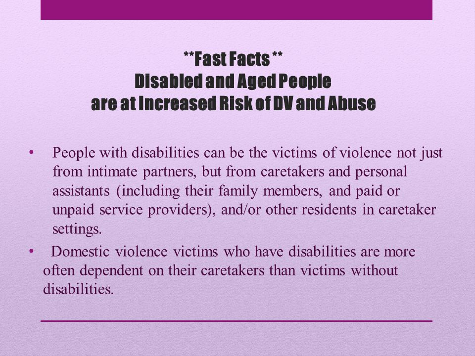 **Fast Facts ** Increased Risk, cont.