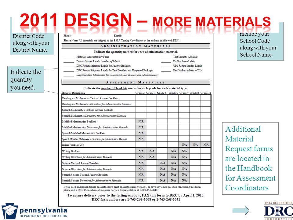 2011 Design – More materials