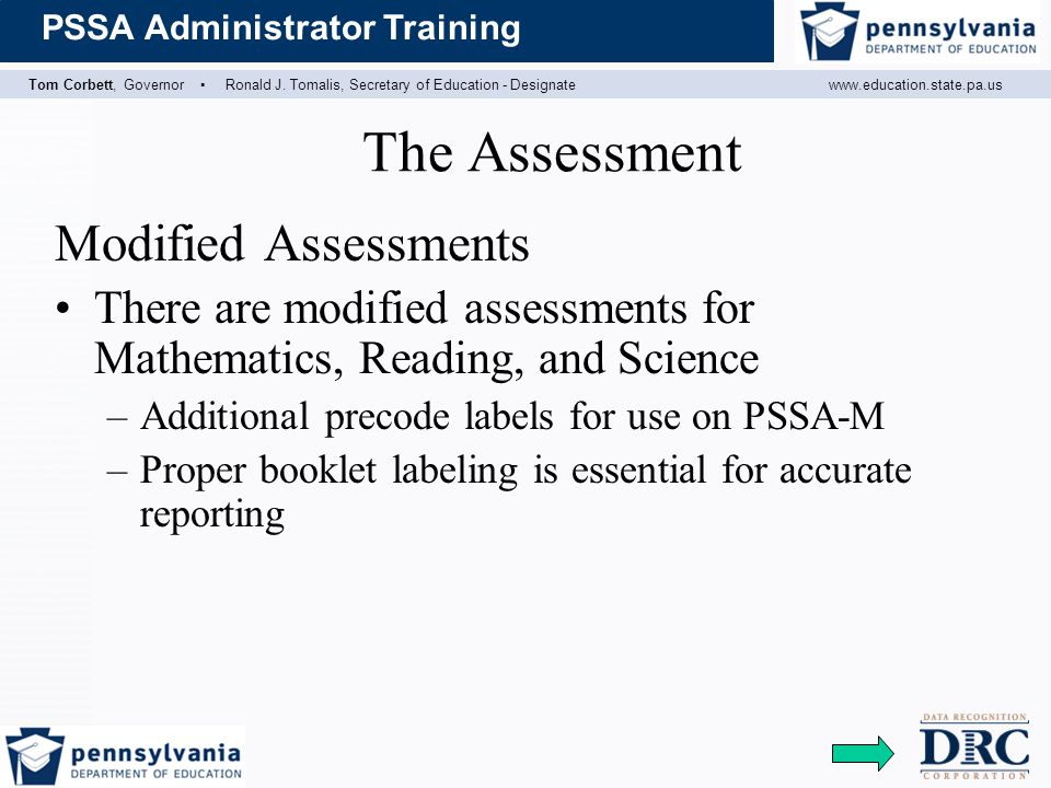 The Assessment Modified Assessments