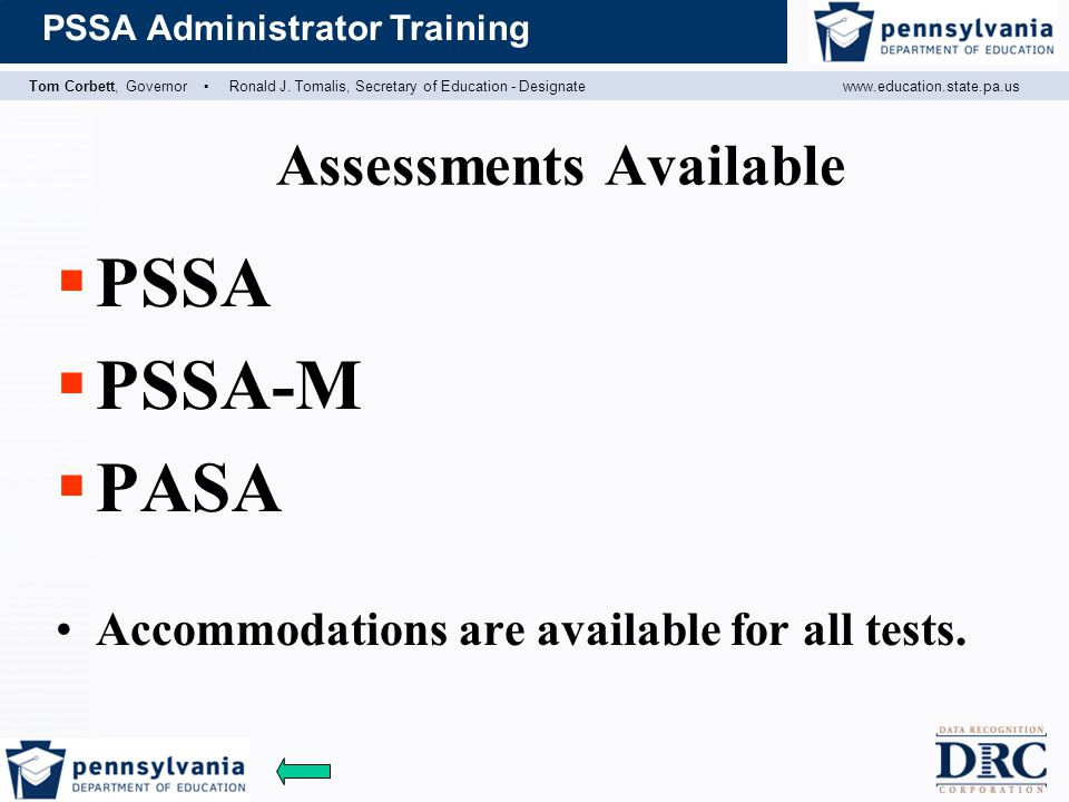 Assessments Available