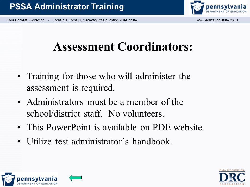 Assessment Coordinators: