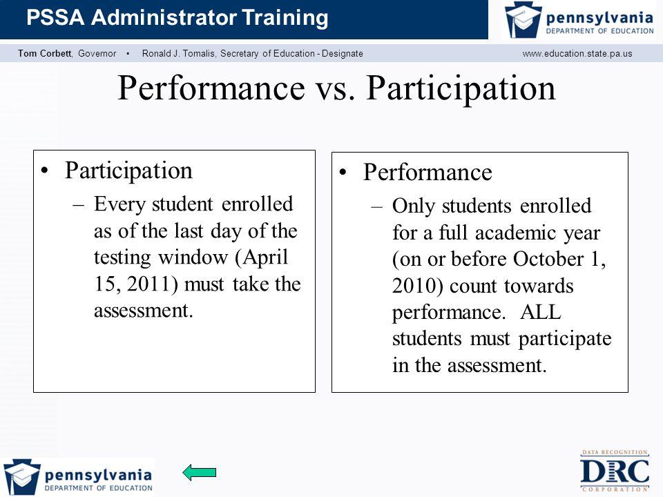 Performance vs. Participation
