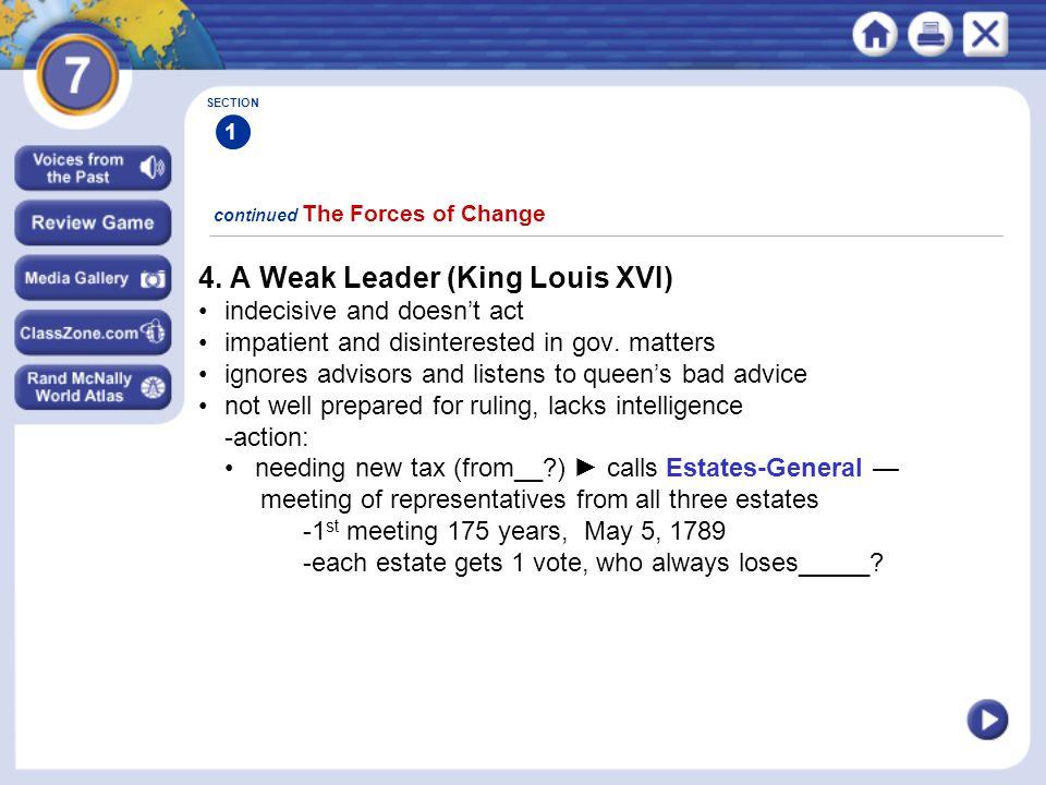 4. A Weak Leader (King Louis XVI)