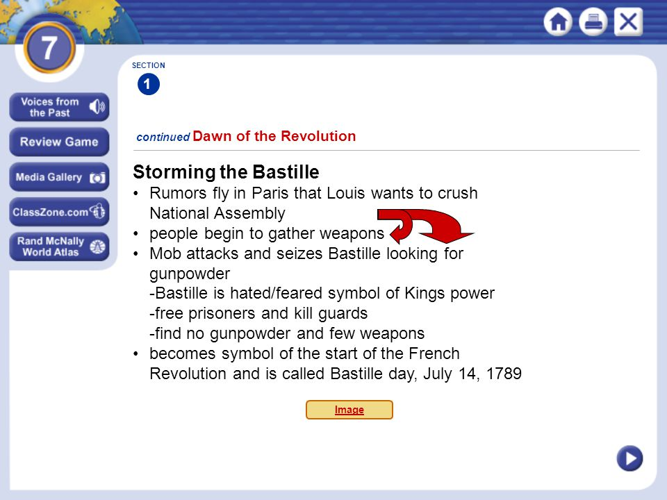 Storming the Bastille • Rumors fly in Paris that Louis wants to crush