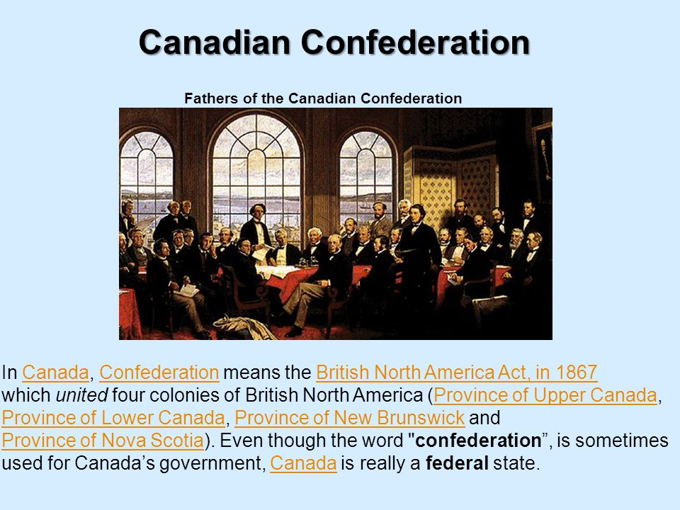 Canadian Confederation Fathers of the Canadian Confederation