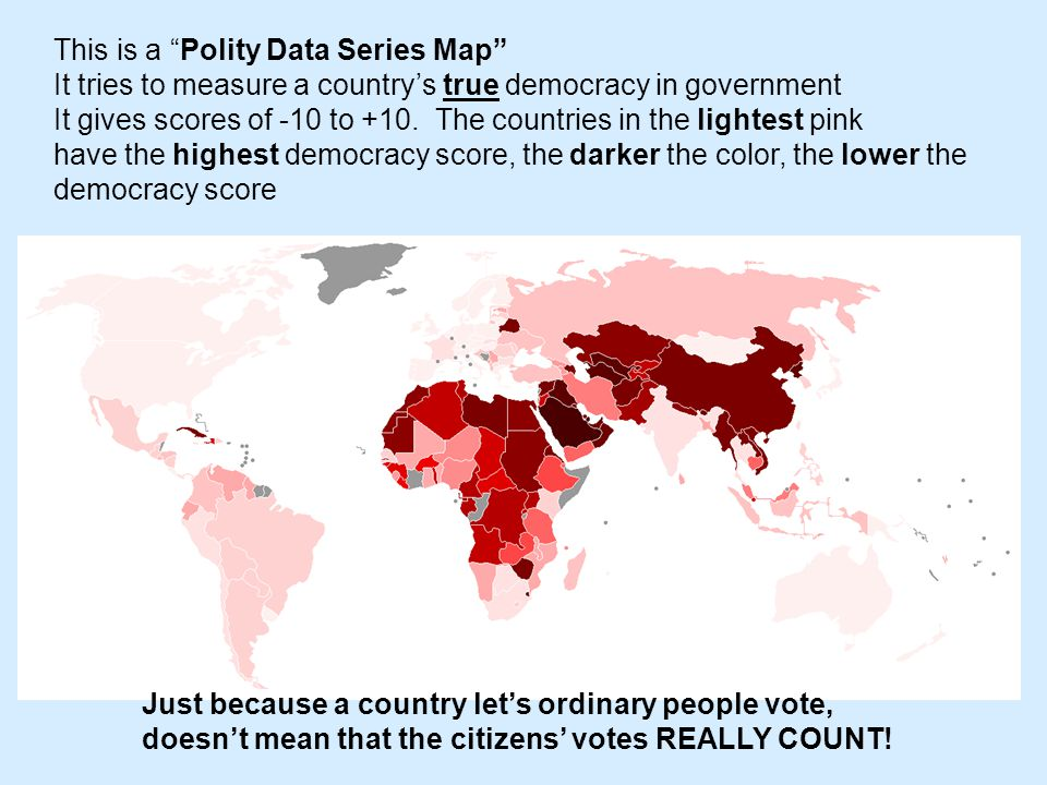 This is a Polity Data Series Map