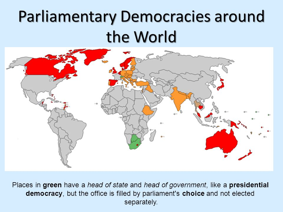 Parliamentary Democracies around the World