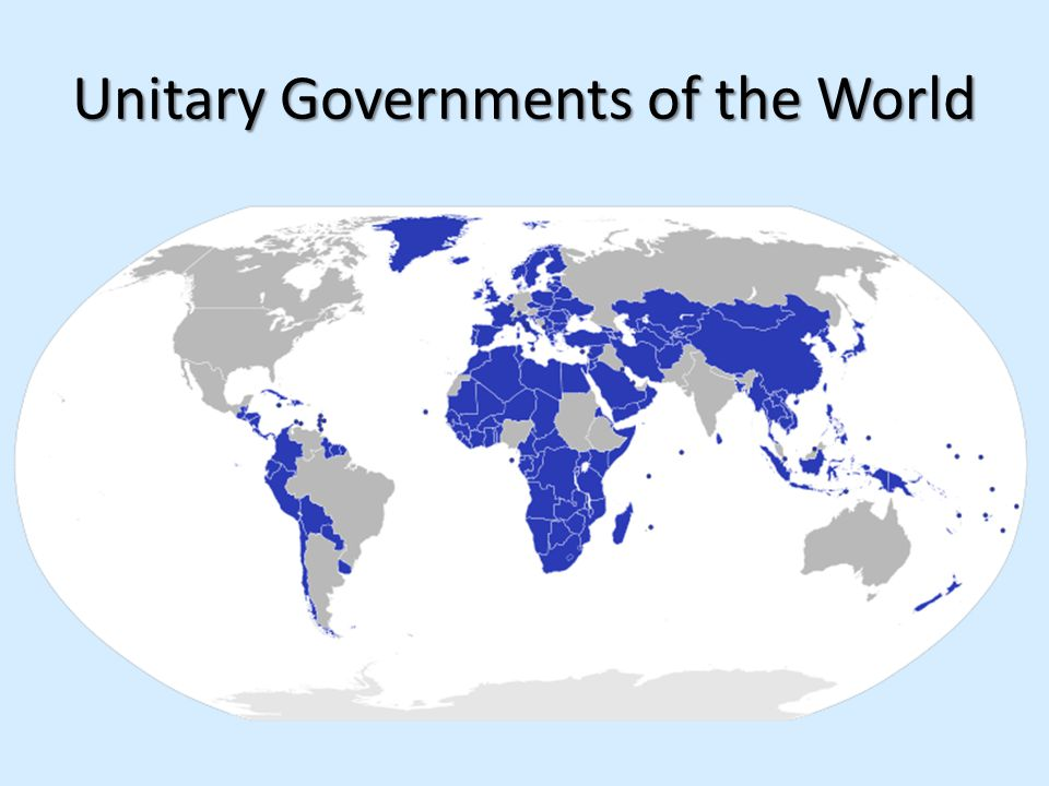 Unitary Governments of the World