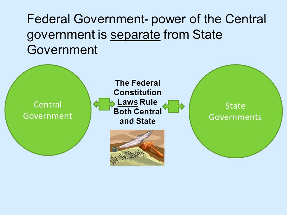 Laws Rule Both Central and State