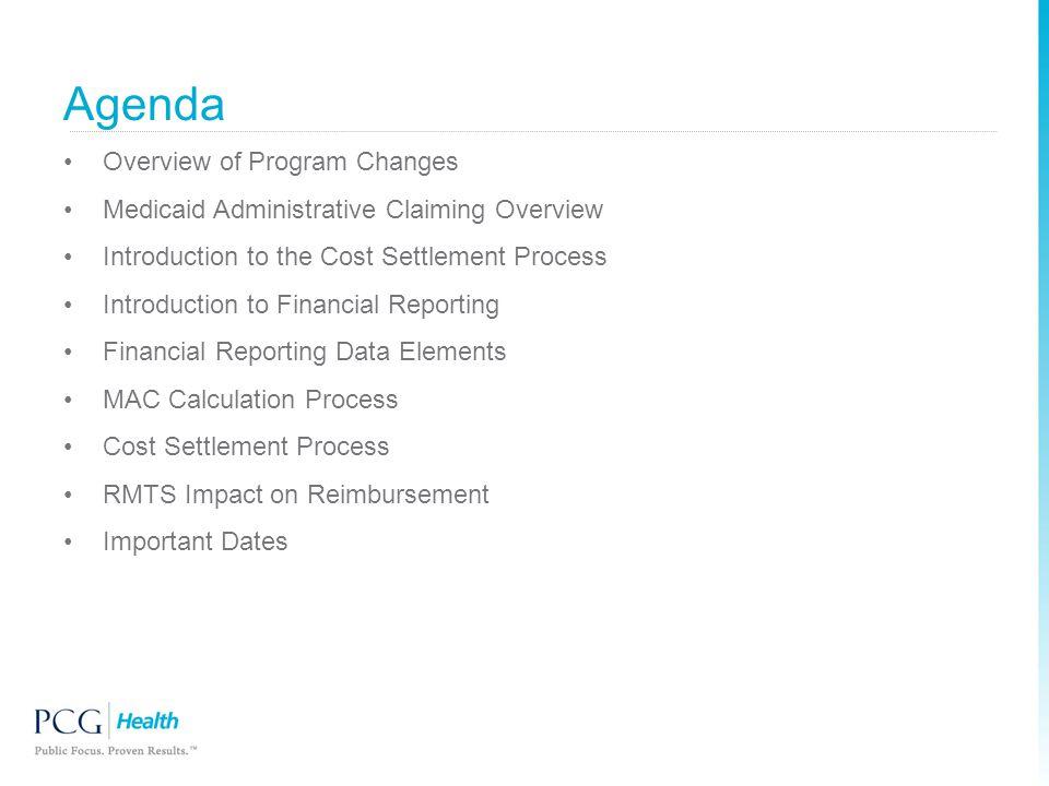 Agenda Overview of Program Changes