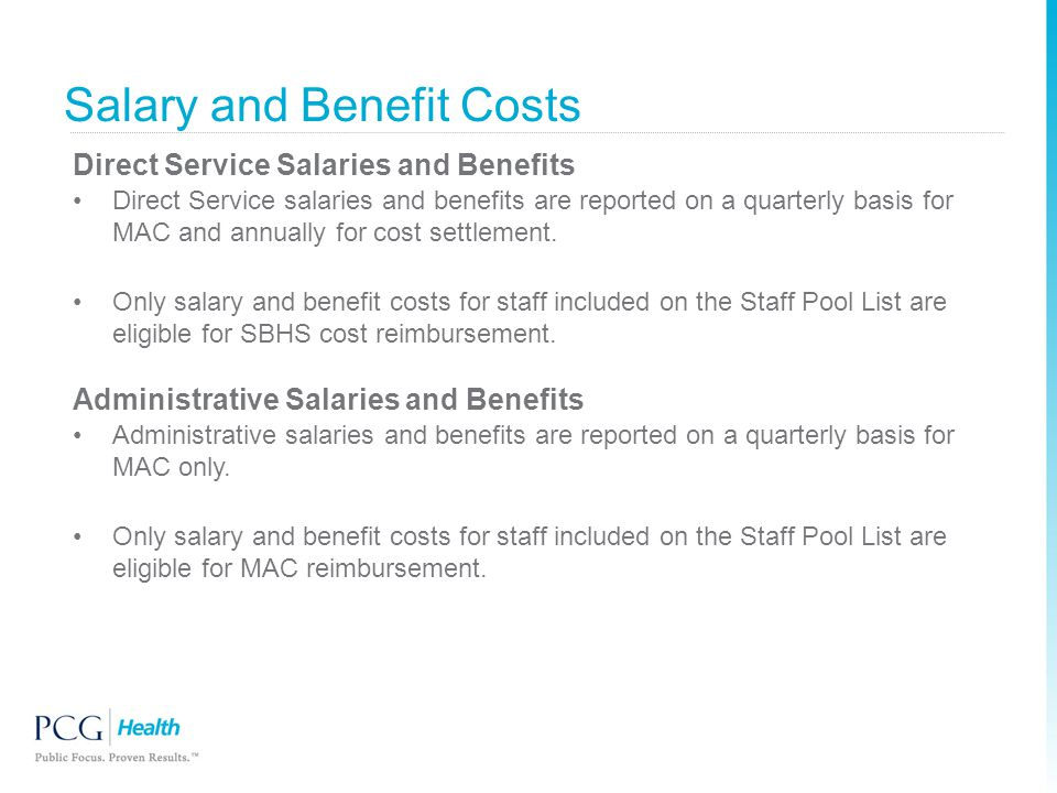 Salary and Benefit Costs