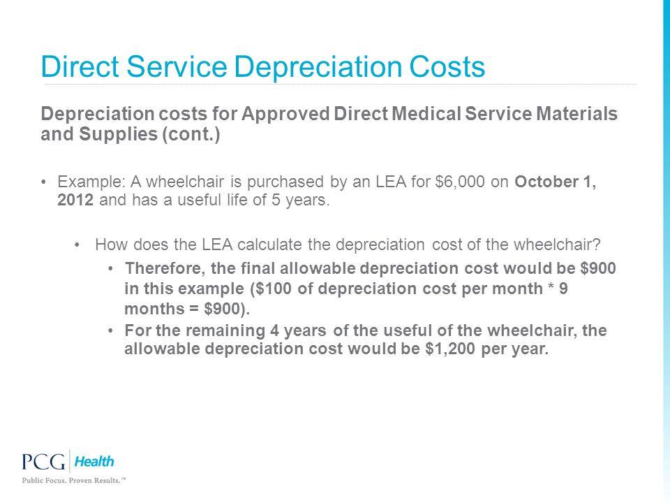 Direct Service Depreciation Costs