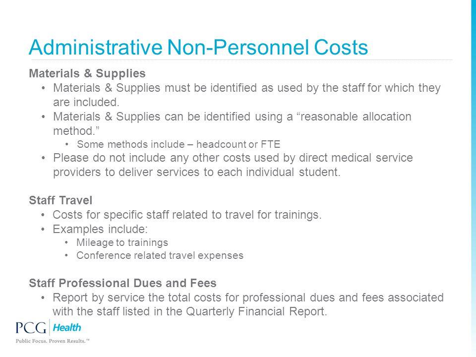 Administrative Non-Personnel Costs