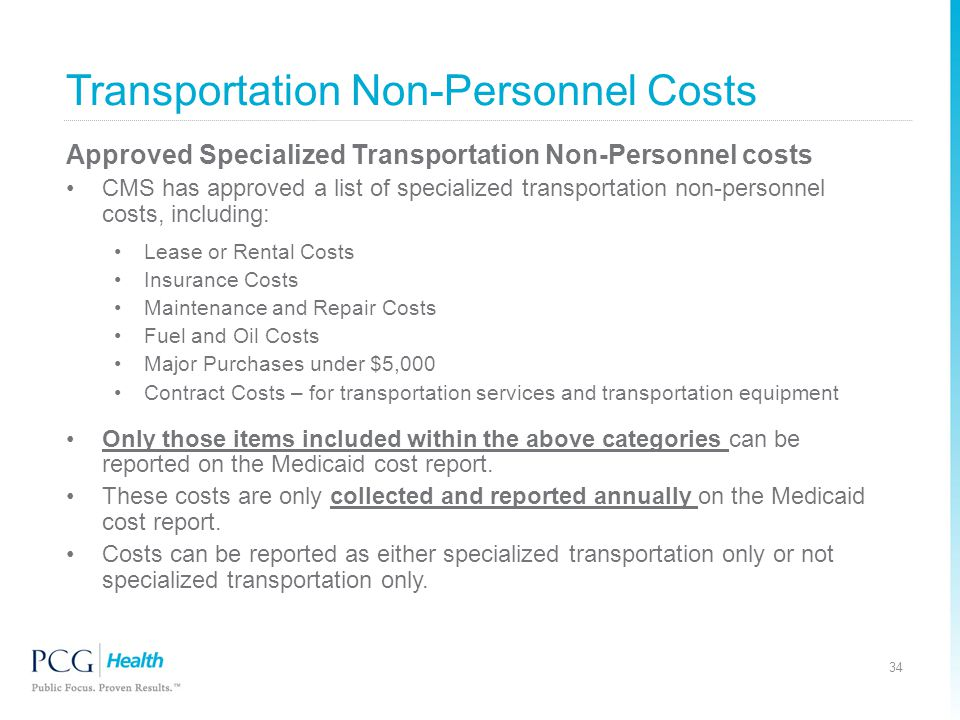 Transportation Non-Personnel Costs