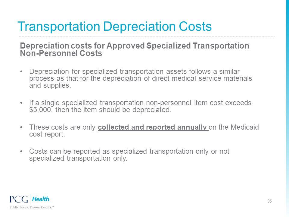 Transportation Depreciation Costs