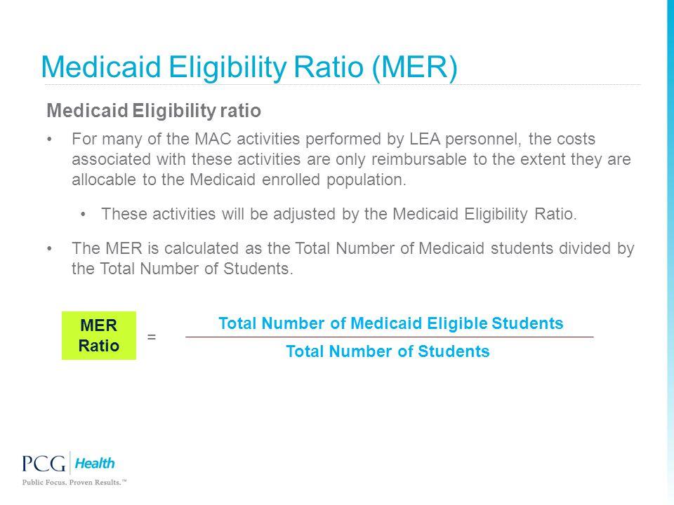 Medicaid Eligibility Ratio (MER)
