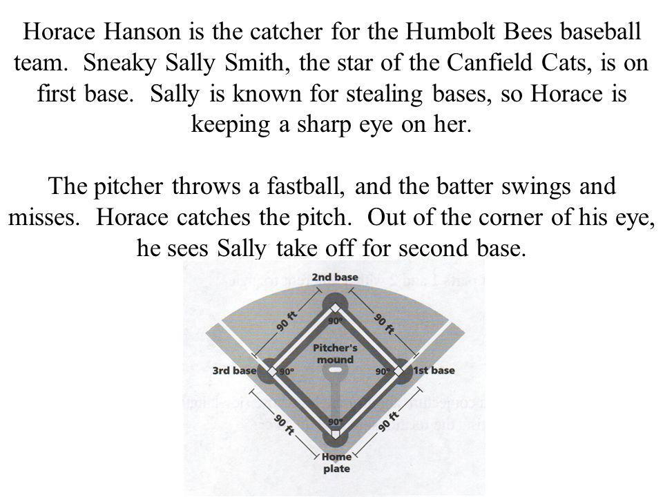 Horace Hanson is the catcher for the Humbolt Bees baseball team