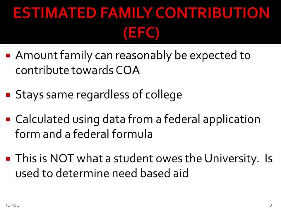 ESTIMATED FAMILY CONTRIBUTION (EFC)