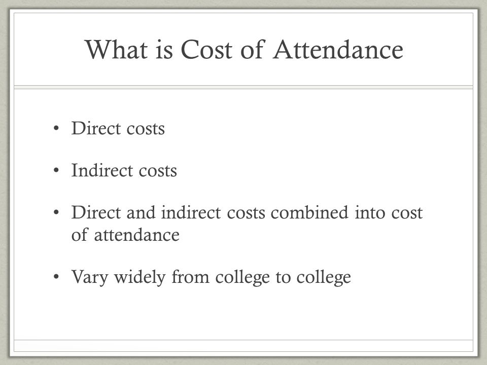 What is Cost of Attendance