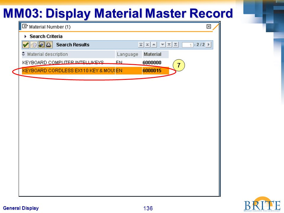 MM03: Display Material Master Record