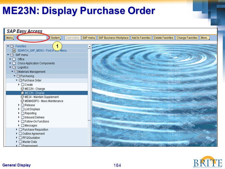 ME23N: Display Purchase Order