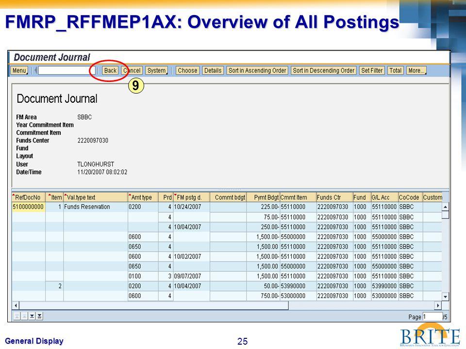 FMRP_RFFMEP1AX: Overview of All Postings
