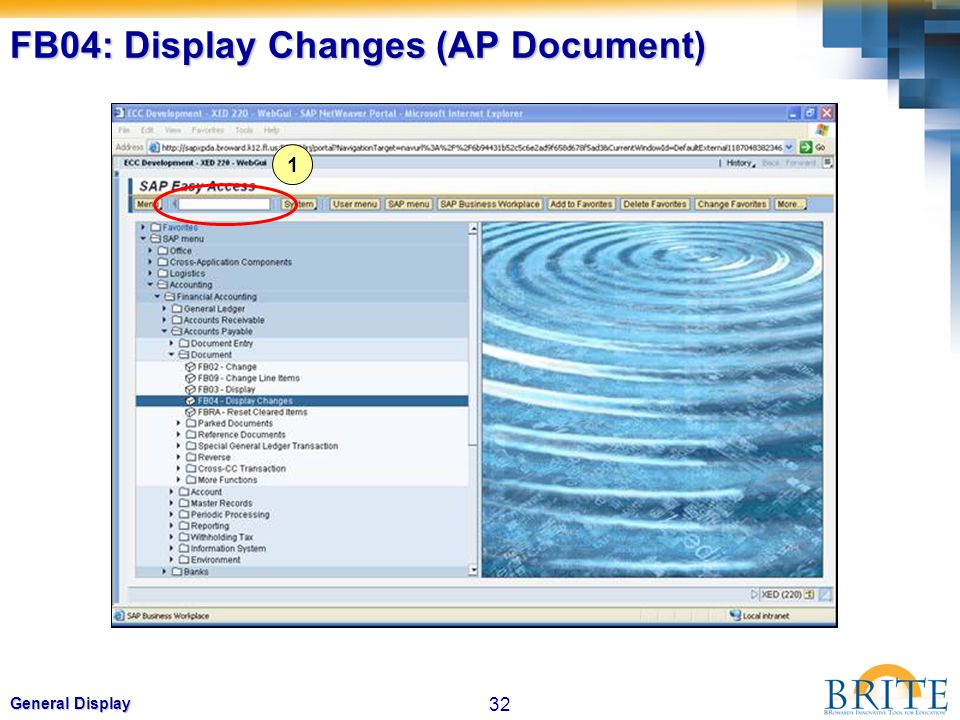 FB04: Display Changes (AP Document)