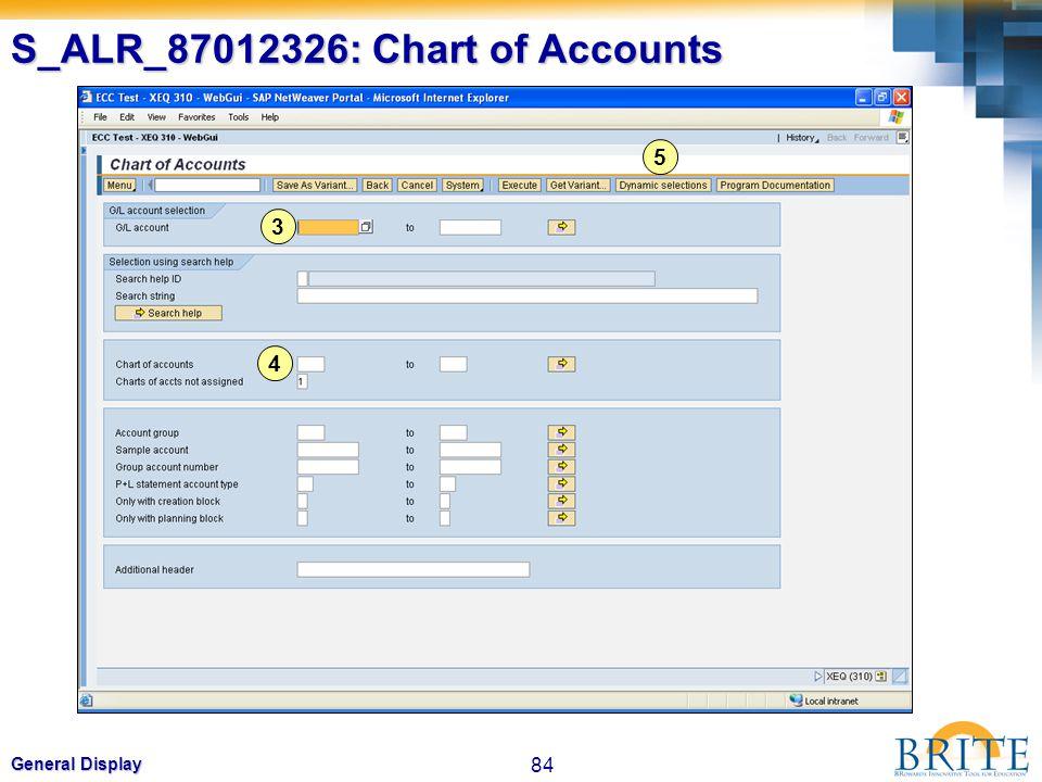 S_ALR_87012326: Chart of Accounts