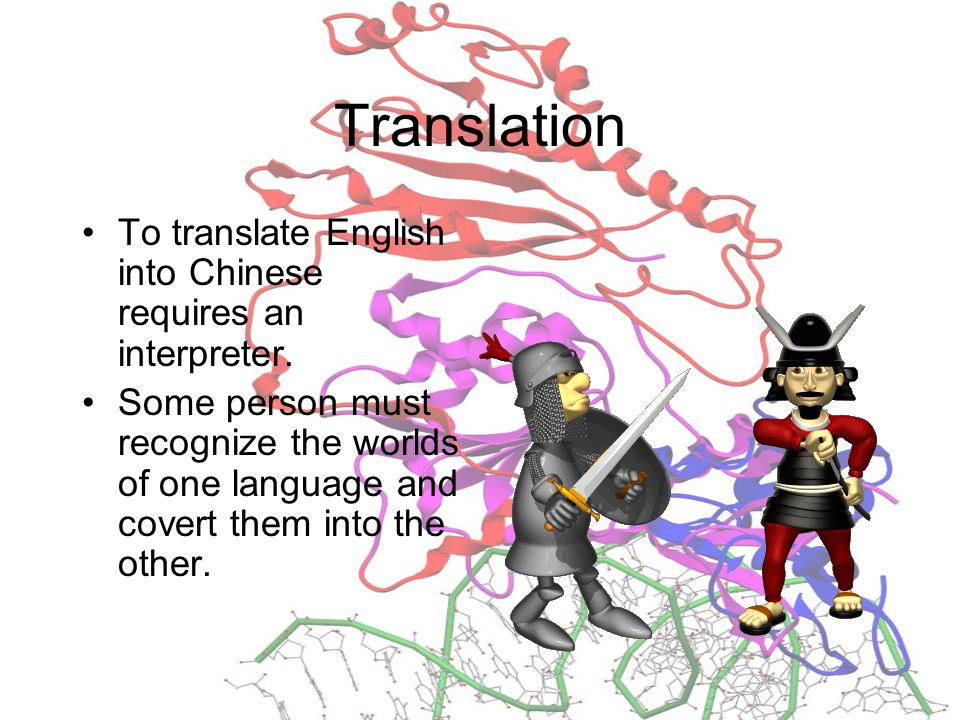 Translation To translate English into Chinese requires an interpreter.