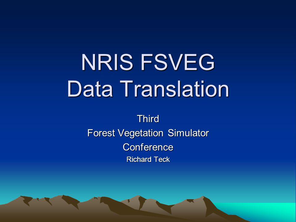 NRIS FSVEG Data Translation