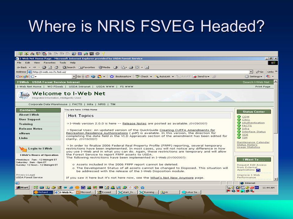 Where is NRIS FSVEG Headed