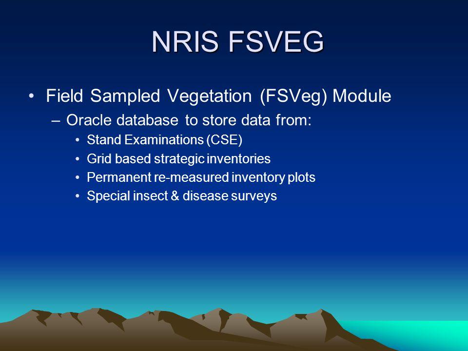 NRIS FSVEG Field Sampled Vegetation (FSVeg) Module