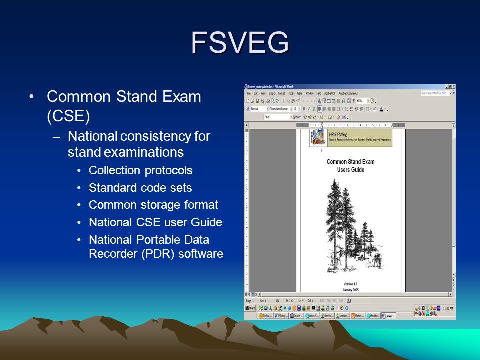 FSVEG Common Stand Exam (CSE)