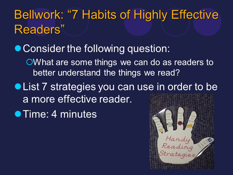 Bellwork: 7 Habits of Highly Effective Readers