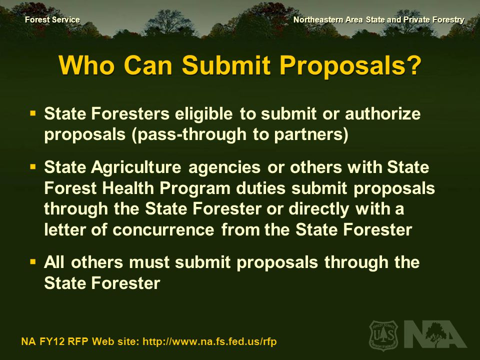 Who Can Submit Proposals