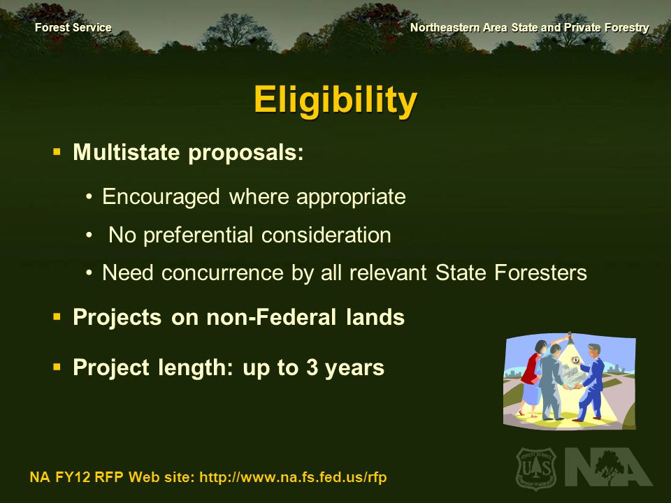 Eligibility Multistate proposals: Projects on non-Federal lands