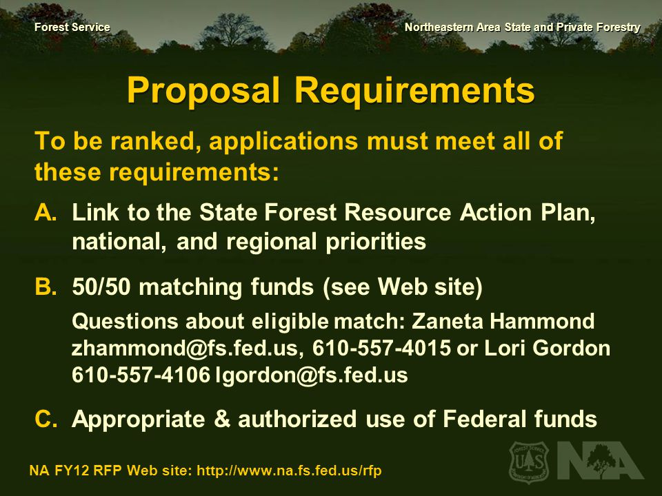 Proposal Requirements