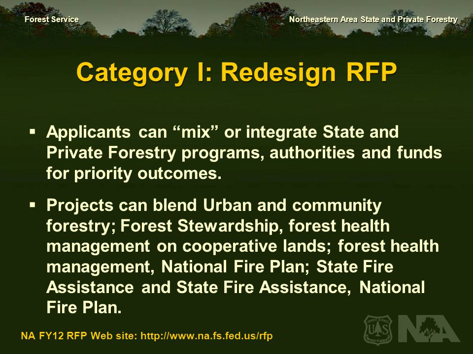 Category I: Redesign RFP