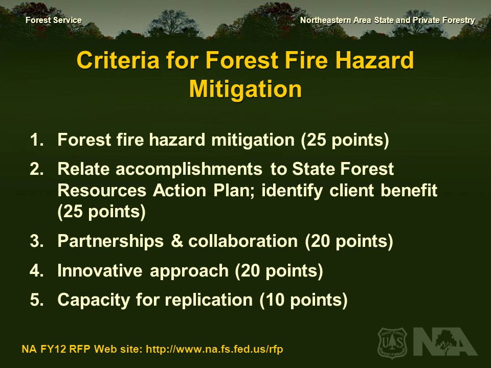 Criteria for Forest Fire Hazard Mitigation