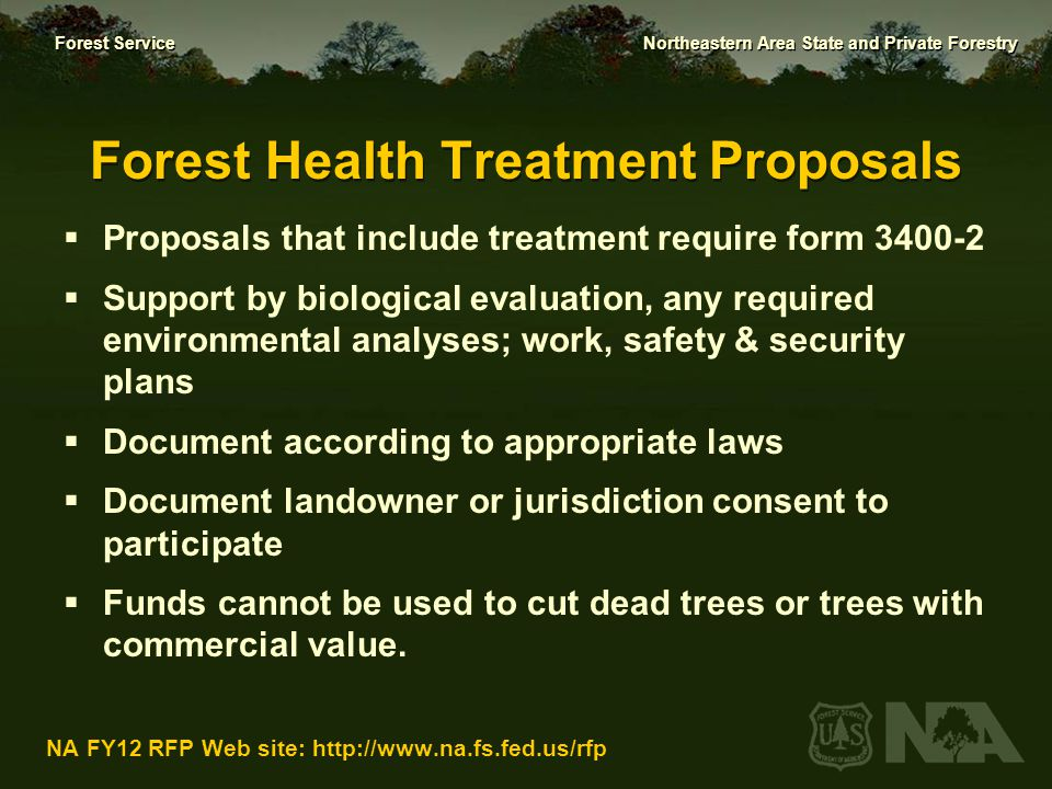 Forest Health Treatment Proposals