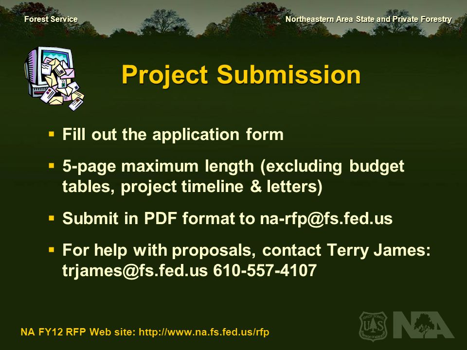 Project Submission Fill out the application form