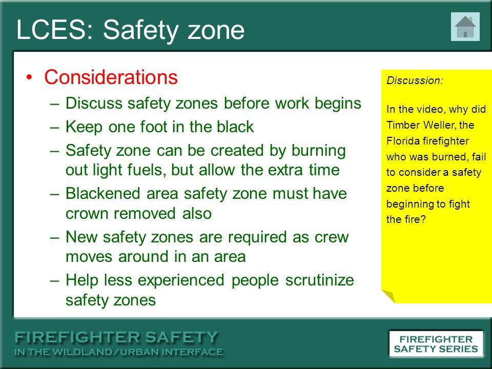 LCES: Safety zone Considerations