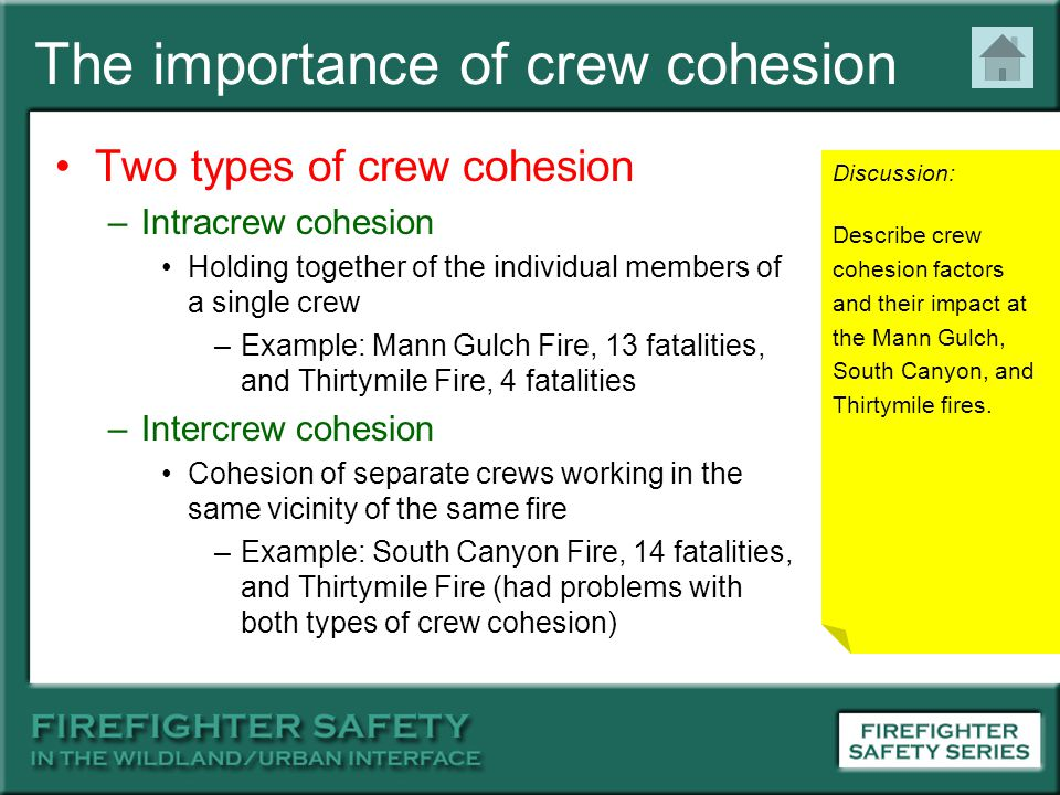The importance of crew cohesion