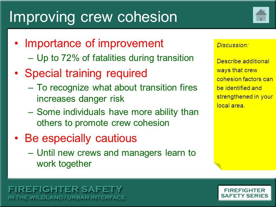 Improving crew cohesion