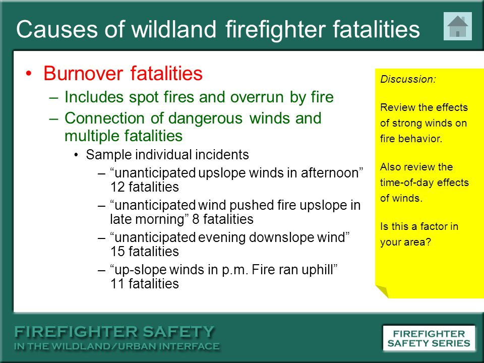 Causes of wildland firefighter fatalities