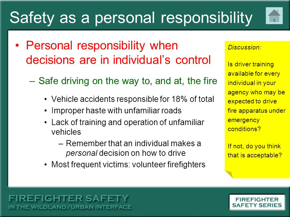 Safety as a personal responsibility
